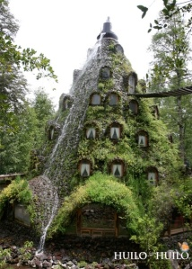 Waterfall Hotel in Chile